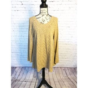 J. Jill Oatmeal Tunic Sweater